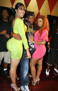 Deelishis photographed here with who cares and some chick