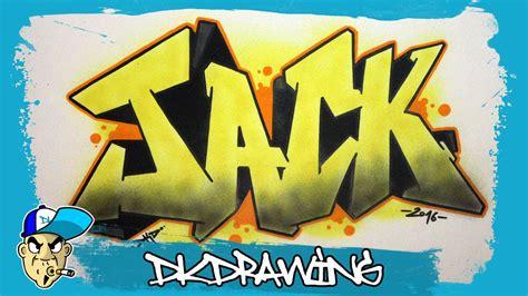 draw graffiti names jack  youtube