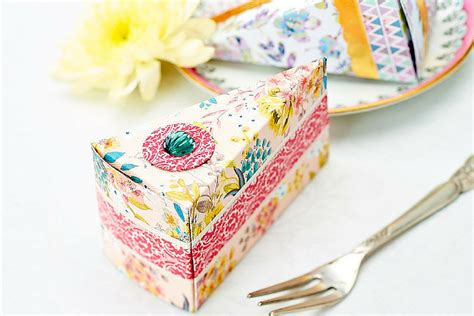 Birthday Cake Papercraft - how to make cake slice boxes hobbycraft