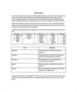 likert scale templates likert scale template 9 free documents in pdf