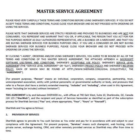 master services agreement template master service agreement template playbestonlinegames