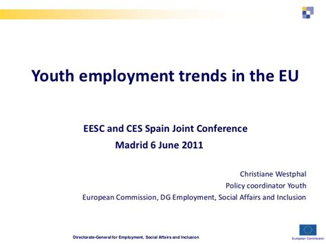 labor market trends section 1 answers youth employment trends in the eu
