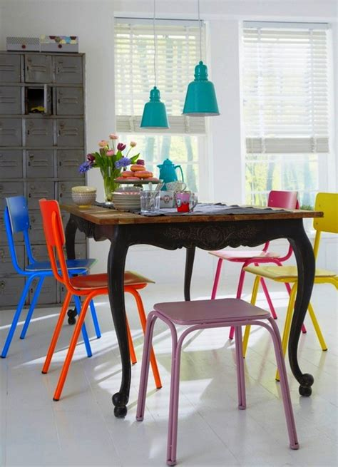 eclectic dining room chairs mix of chairs in the dining 20 mix and match dining chairs design ideas