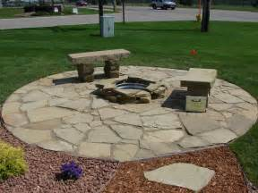 Flat Rock Fire Pit - flagstone patios and walkways chips groundcover llc