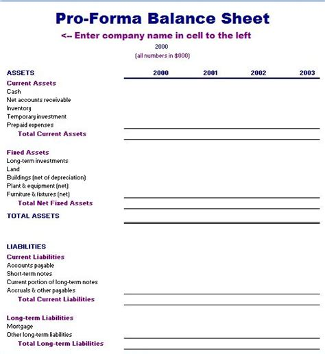 business plan pro forma template excel