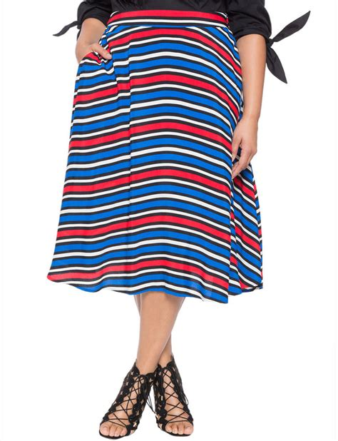 studio striped a line skirt s plus size skirts