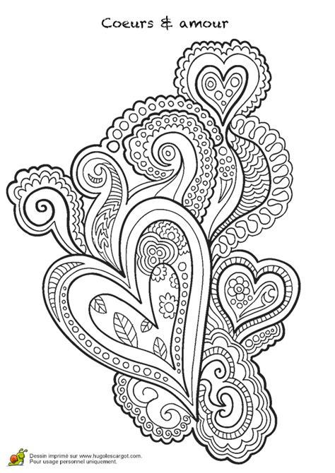 Coloriage Mandala en forme de Cœur