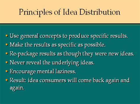 six principles of idea principles of idea 12 principles of idea distribution