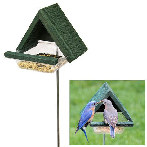 chalet bird feeder garden stake the animal rescue site