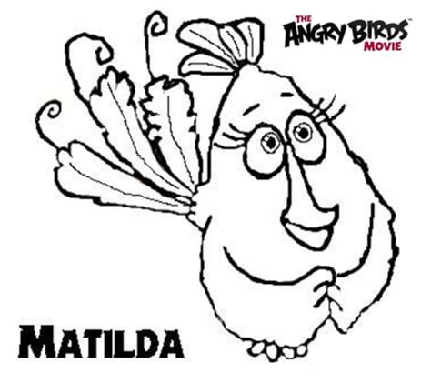 angry birds movie coloring pages the angry birds movie coloring pages matilda by