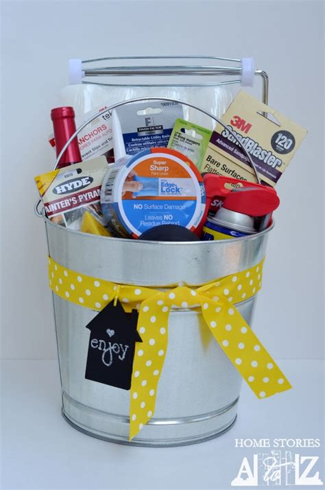 housewarming presents housewarming bucket gift idea home stories a to z