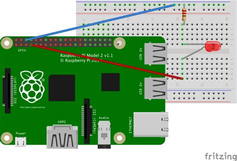 led resistor raspberry pi using to the raspberry pi gpio pins and turn an led on