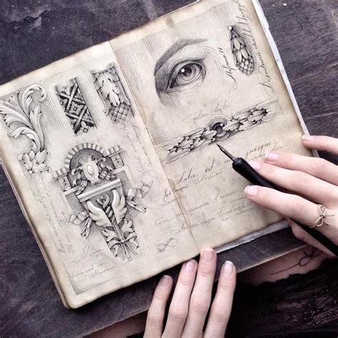 sketchbook for the artist ink drawing sketchbook by limkina shows artist s
