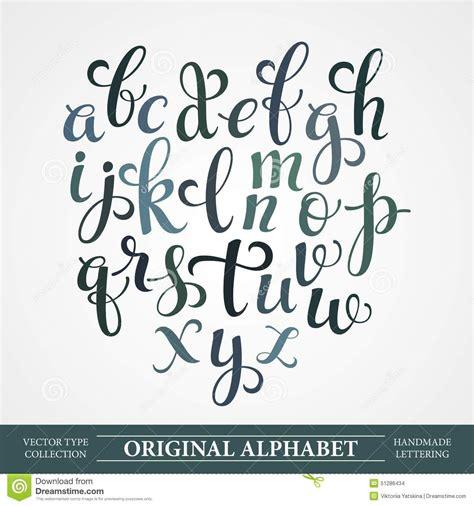 font design hand el alfabeto original hechos a mano letras de vector