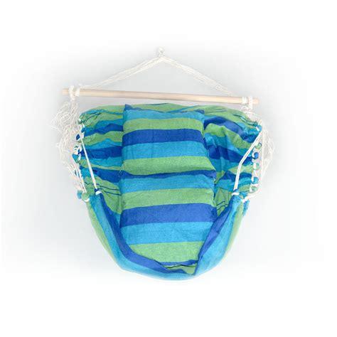 swinging hammock cushions hammock swing chair w cushion blue green