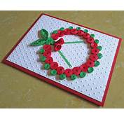 Christmas Card Paper Quilling Embossed Quilled