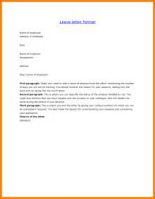 6 format of leave application lease template