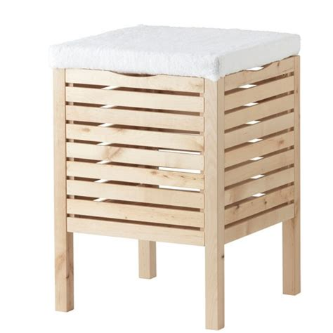 Bathroom Stool Storage Molger Storage Stool From Ikea Bathroom Storage Housetohome Co Uk