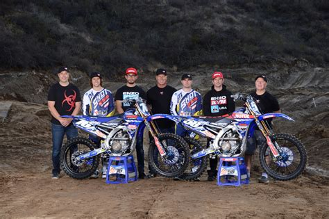 motocross race homes for bpmx home dept yamaha signs with shot race gear