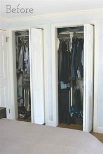 Replace Sliding Closet Doors With Curtains Replacing Bi Fold Closet Doors With Curtains Our Closet Makeover Driven By Decor