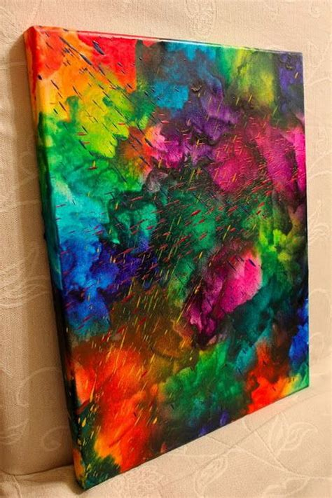 artwork ideas fun and budget friendly melted crayon art ideas