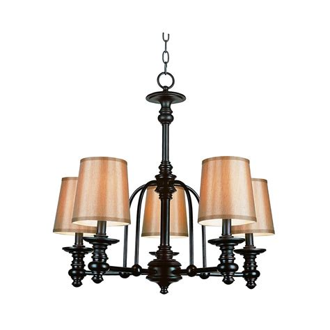 Chandelier Home Depot by Hton Bay Bronze Linen Shade Hanging Chandelier The Home Depot Canada