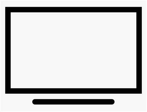 tv icon rectangular thick  sharp