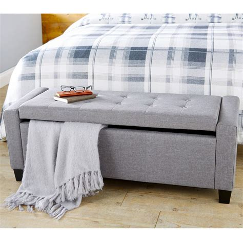 chenille storage bench and ottoman faux leather fabric chenille diamantes hopsack blanket box