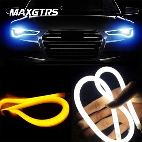 guide to led strip lighting 2x 30 45cm 60cm 85cm daytime running light universial