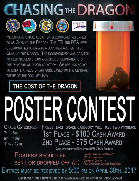 Poster Giveaway - quot chasing the dragon quot poster contest greater than heroin
