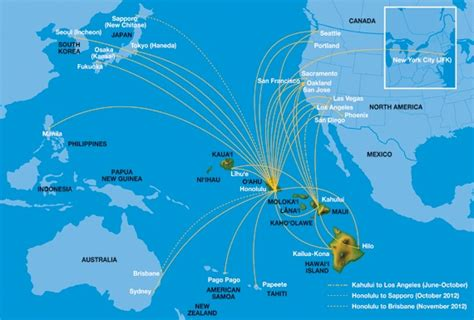 map of hawaiian islands and california hawaiian airlines to fly to new zealand world airline news