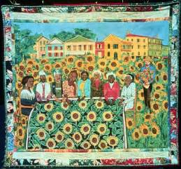 faith ringgold the sunflower quilting bee at arles