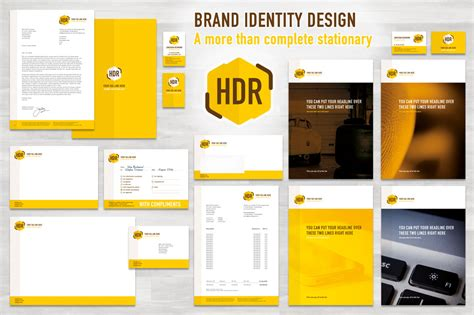 identity design template complete brand identity eu cm stationery templates on