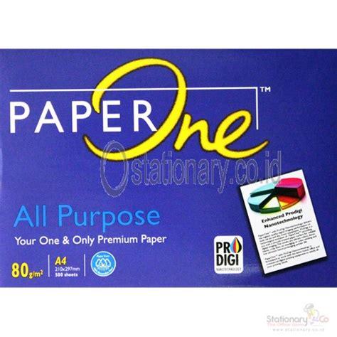 Kertas Hvs Paper One A480 Gram jual kertas paper one a4 80gsm atk00200714305 untuk rp35 000 00 harga grosir dan murah
