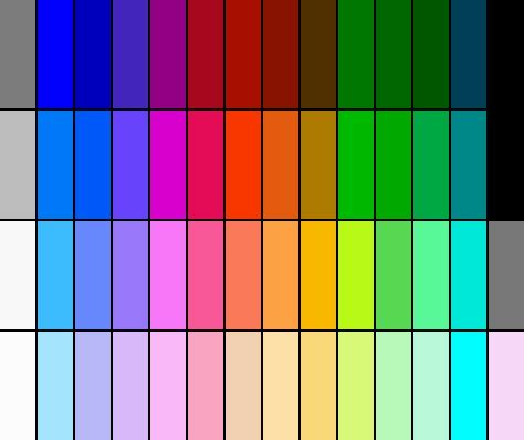 think color original nes color palette this is what i think of when