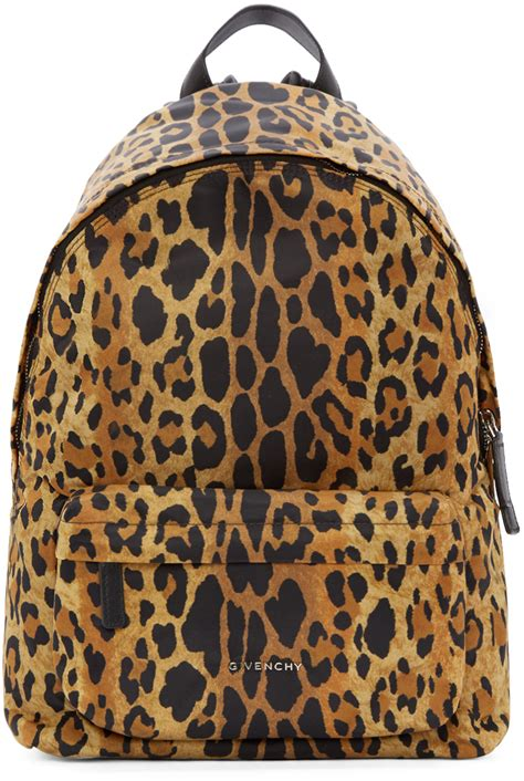 Leopard Print Backpack lyst givenchy black and leopard print backpack