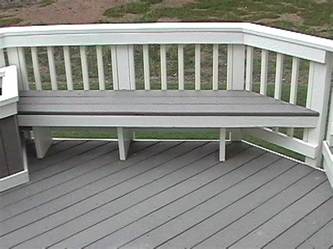 desk composite deck bench plans