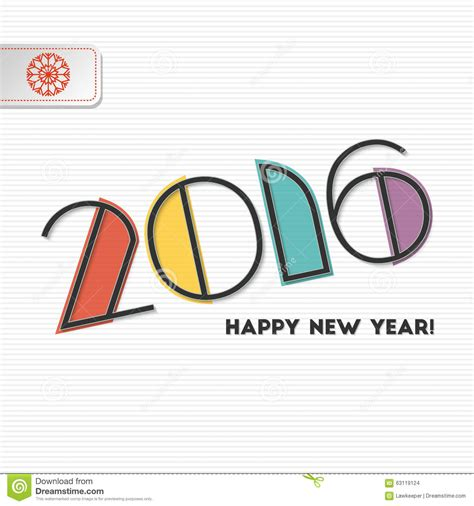new year greeting card design 2016 new year 2016 greeting card design stock vector image