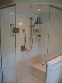 amusing single frameless glass shower door with niche