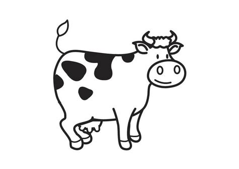 imagenes para colorear vaca dibujo para colorear vaca img 17792
