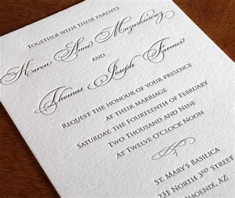 formal wedding invitation designs traditional wedding invitations for royal brides letterpress