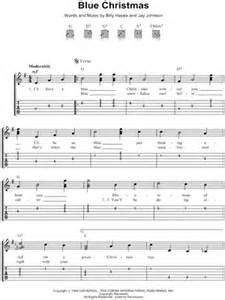 Image of elvis presley quot blue christmas quot guitar tab download amp print