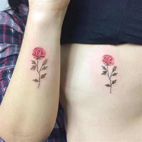 matching rose tattoos tattoo collections