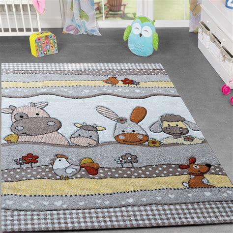 teppiche kinderzimmer kinder teppich bauernhof design lustige tiere kinderzimmer