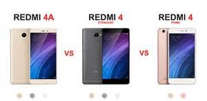 Redmi 4a Xiaomi Redmi 4a Vs Xiaomi Redmi 4 Standard Vs Xiaomi Redmi