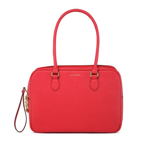 Lulu Guinness Shaped Handbags by Lyst Lulu Guinness Crosshatched Leather Large