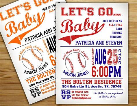 Diy Baby Shower Invite by Baby Shower Invitation Baseball Baby Shower Invite Diy