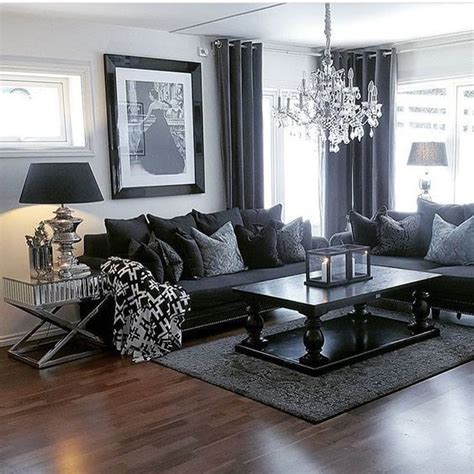black and gray living room best 25 black living room furniture ideas on pinterest