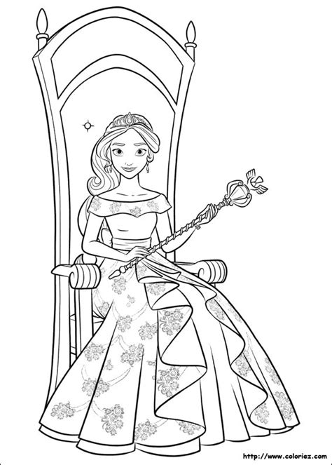 printable coloring pages elena of avalor princess elena of avalor colouring page party theme