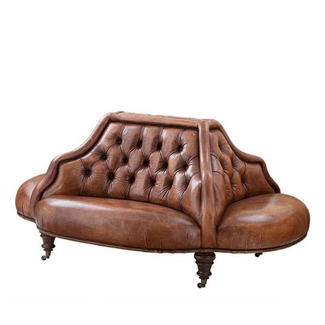 Leather And Velvet Sofa Follies Sofa In Green Duck Velvet Or Cigar Genuine Leather For Sale At 1stdibs